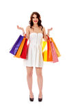 Beautiful woman with a shopping bags Royalty Free Stock Photography