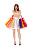 Beautiful woman with a shopping bags Stock Images
