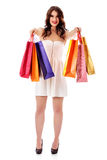 Beautiful woman with a shopping bags Royalty Free Stock Photos