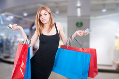 Beautiful woman with shopping bags Royalty Free Stock Photos