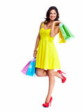 Beautiful woman with a shopping bags. Royalty Free Stock Photo