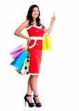 Beautiful woman with a shopping bags. stock image