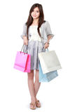 Beautiful woman with shopping bags Royalty Free Stock Photography