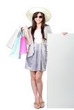 Beautiful woman with shopping bags Royalty Free Stock Images