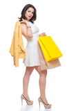 Beautiful  woman with shopping bags. Royalty Free Stock Image