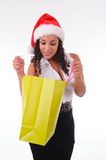 Beautiful woman shopping for Christmas Stock Image