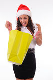 Beautiful woman shopping for Christmas Royalty Free Stock Image