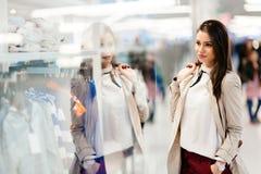 Beautiful woman shopping clothes Royalty Free Stock Photos