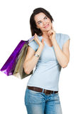 Beautiful woman shopping. Stock Image