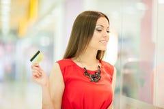Beautiful woman shopping Stock Image