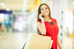 Beautiful woman shopping Stock Photo