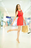 Beautiful woman shopping Royalty Free Stock Photography