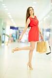 Beautiful woman shopping Royalty Free Stock Photography