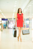 Beautiful woman shopping Stock Photo