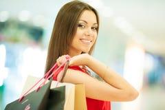 Beautiful woman shopping Stock Photography