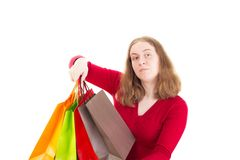 Beautiful woman on shopping tour Stock Photography