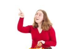 Beautiful woman on shopping tour. Beautiful woman on great shopping tour Royalty Free Stock Photo