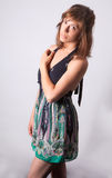 Beautiful Woman in Short Dress Royalty Free Stock Photos