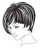 Beautiful woman with short hair royalty free stock photo