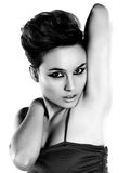 Beautiful woman with short hair. Portrait of a beautiful woman with short hair Stock Photo