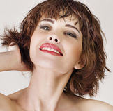 Beautiful  woman with short hair Stock Photography