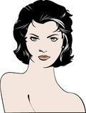 Beautiful woman short hair illustration Stock Photography