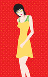 Beautiful woman with short hair.  Illustration Stock Images