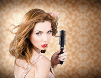 Beautiful woman with short red hair. Hairdressing Royalty Free Stock Photos