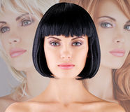 Beautiful woman with shot hairstyle Stock Image