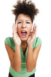Beautiful woman shouting Royalty Free Stock Photography