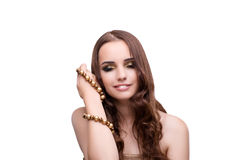 Beautiful woman showing off her jewellery in fashion concept iso Stock Photography
