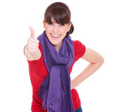 Beautiful woman showing thumbs up Royalty Free Stock Photography