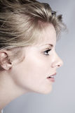 Beautiful woman with the side view Stock Photos