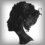 Beautiful woman silhouette Royalty Free Stock Photo