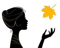 Beautiful woman silhouette Stock Photo