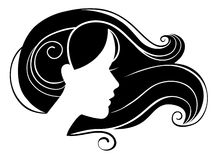 Beautiful woman silhouette Royalty Free Stock Images