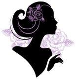 Beautiful woman silhouette Royalty Free Stock Photos