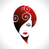 Beautiful woman silhouette in glamourus syle Royalty Free Stock Photography