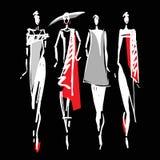 Beautiful Woman silhouette Royalty Free Stock Image