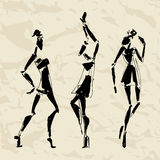 Beautiful Woman silhouette Royalty Free Stock Photos