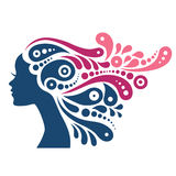 Beautiful woman silhouette Royalty Free Stock Photography