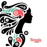 Beautiful woman silhouette Royalty Free Stock Image