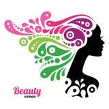 Beautiful woman silhouette Stock Photography