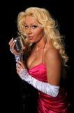 Beautiful Woman Singing Royalty Free Stock Photography