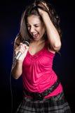 Beautiful Woman Singinger stock images