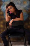 Beautiful woman sitting  Royalty Free Stock Photos
