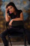 Beautiful woman sitting  Royalty Free Stock Photos