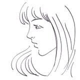 Beautiful woman sketch stock image