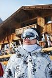 Beautiful woman in ski resort Royalty Free Stock Photos