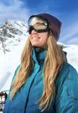 Beautiful woman at ski resort Royalty Free Stock Images